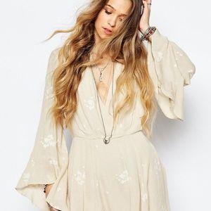 Free People Jasmine Floral Embroidered Tunic/Dress